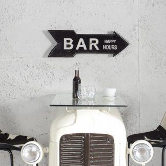 Schild Bar Happy Hours 55cm čierna rechts