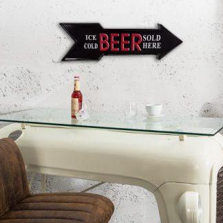 Schild Ice Cold Beer 55cm čierna rechts