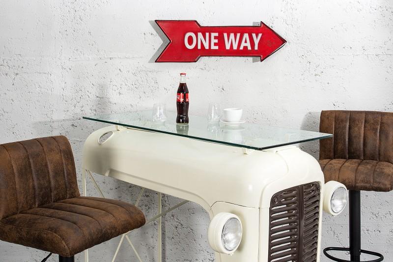 Schild One Way 55cm červená rechts