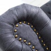 Sofa Chesterfield 3er sivá antik look