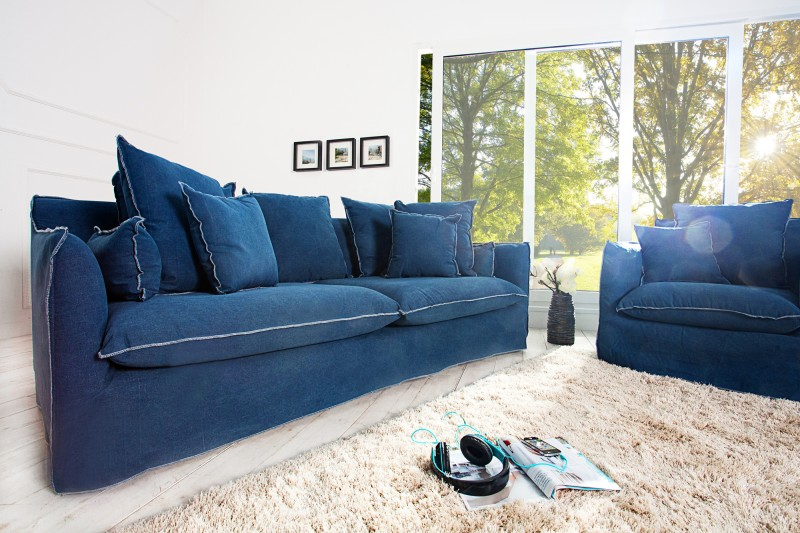 Sofa Heaven 3er blue stone washed