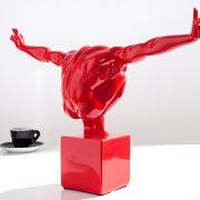 Soška Athlete I Muskeln 45cm červená