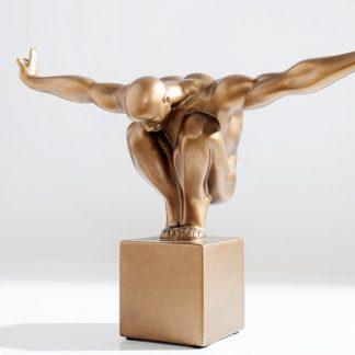 Soška Athlete I Muskeln 45cm meď