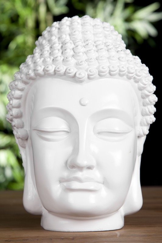 Soška Buddha Kopf 25cm biela