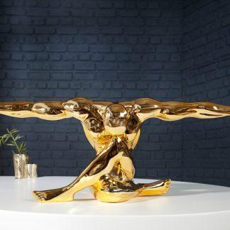 Soška Muskel Athlet Bolt 65cm zlatá