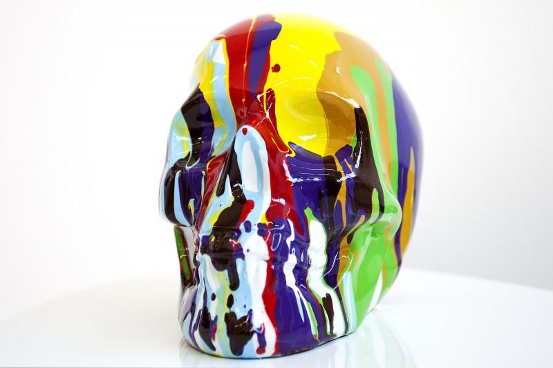Soška PopArt Skull farebné
