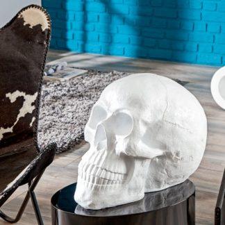 Soška Totenkopf Skull 40cm biela