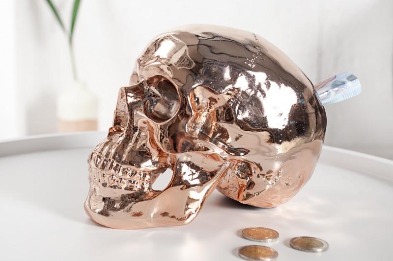 Spardose Skull 20cm meď