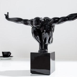 Statue Athlete I Muskeln 45cm čierna