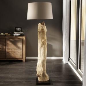 Stojanová lampa - naplavené drevo Rousilique béžová