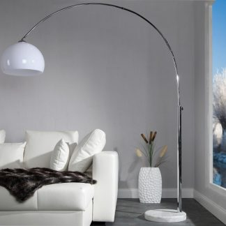 Stojanová lampa Big Bow II biela 175-205cm