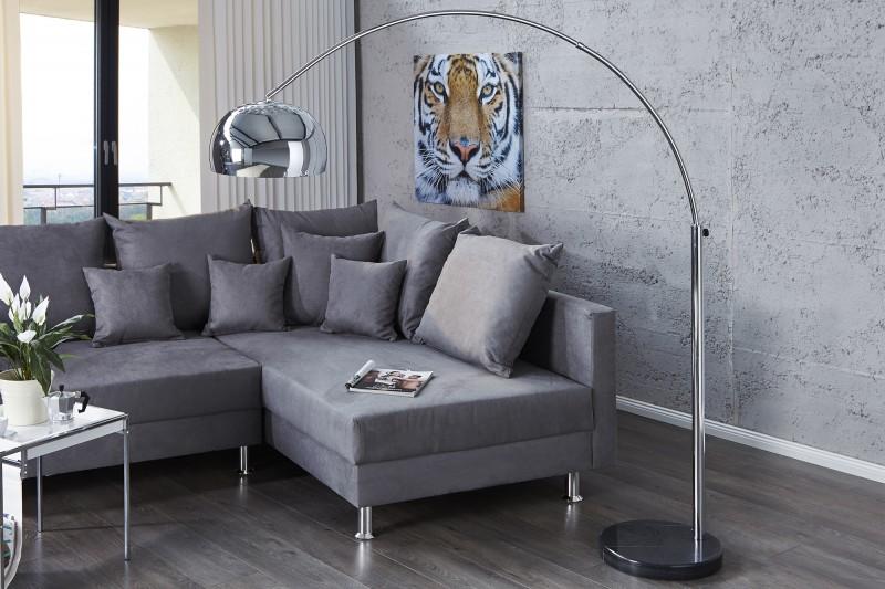Stojanová lampa Big Bow II chróm 170-205cm