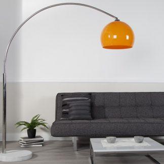 Stojanová lampa Big Bow II oranžová 175-205cm