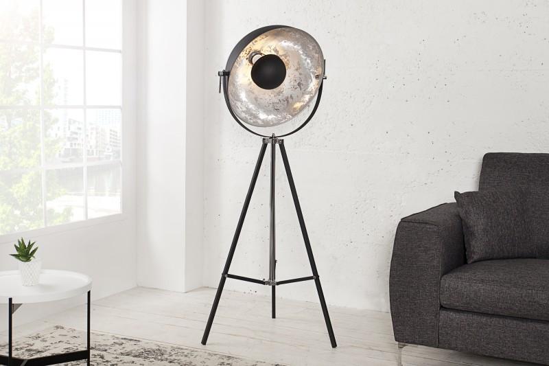 Stojanová lampa Big Studio 160cm čierna strieborná