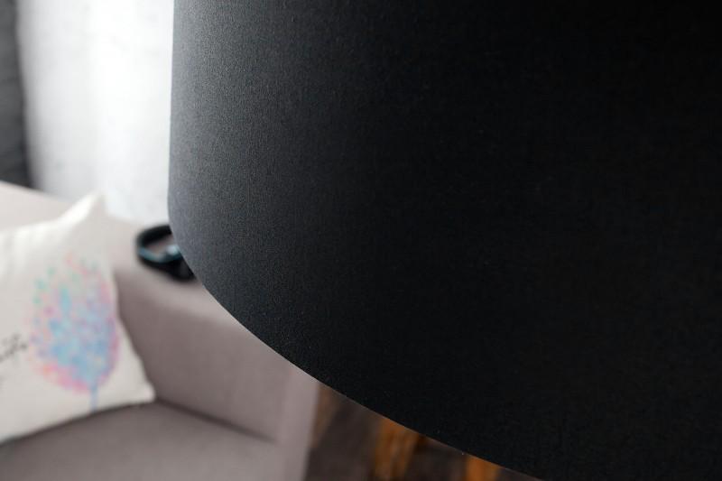 Stojanová lampa BigBow čierna ausziehb. plátno