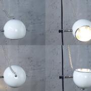Stojanová lampa Bubble dvoják biela
