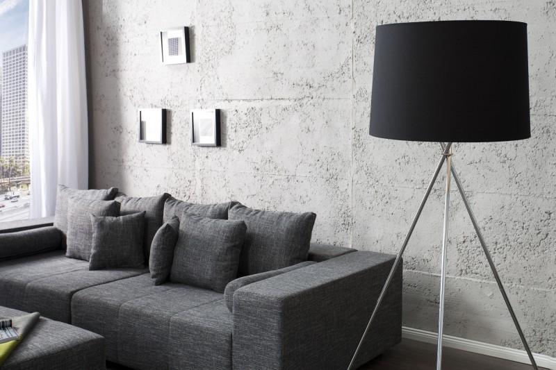 Stojanová lampa Classique 175cm čierna