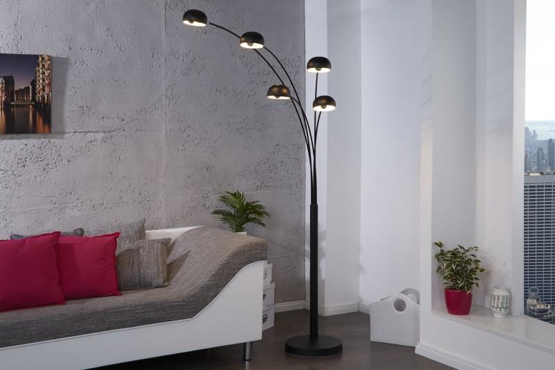 Stojanová lampa Five Lights čierna