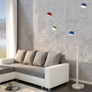 Stojanová lampa Five Lights farebné