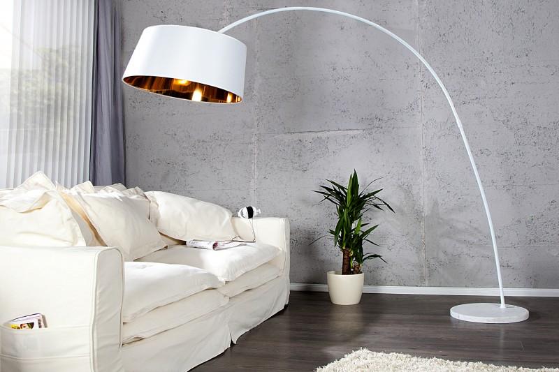 Stojanová lampa Forma biela zlatá