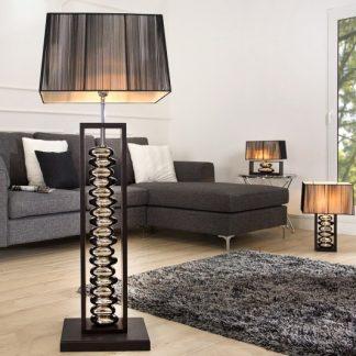 Stojanová lampa Gracia 175cm čierna strieborná