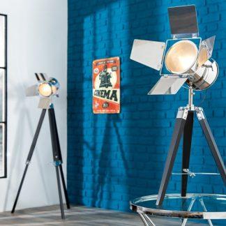 Stojanová lampa Hollywood 65cm čierna chróm