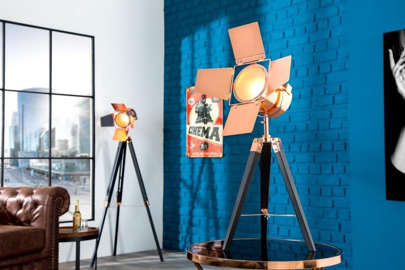 Stojanová lampa Hollywood 65cm čierna meď