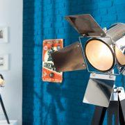 Stojanová lampa Hollywood 95-140cm čierna chróm