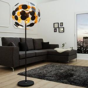 Stojanová lampa Infinity 170cm čiernozlatá
