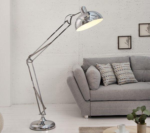 Stojanová lampa Loft 180cm chróm
