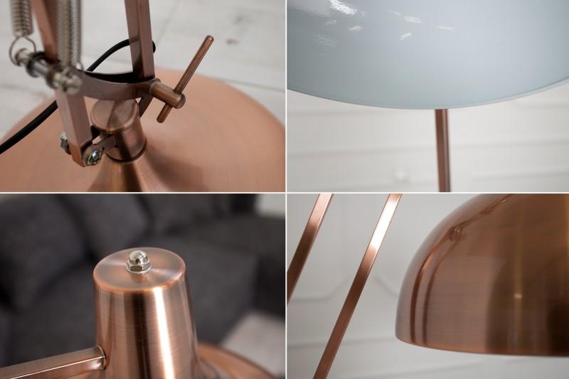 Stojanová lampa Loft 180cm meď