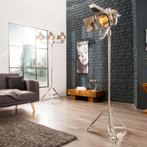 Stojanová lampa Lux 170cm strieborná