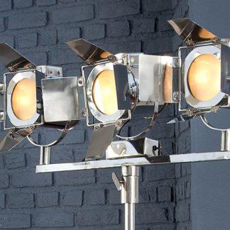 Stojanová lampa Lux 3er 185cm strieborná