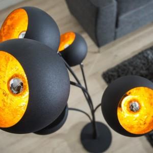 Stojanová lampa Magma 170cm čiernozlatá