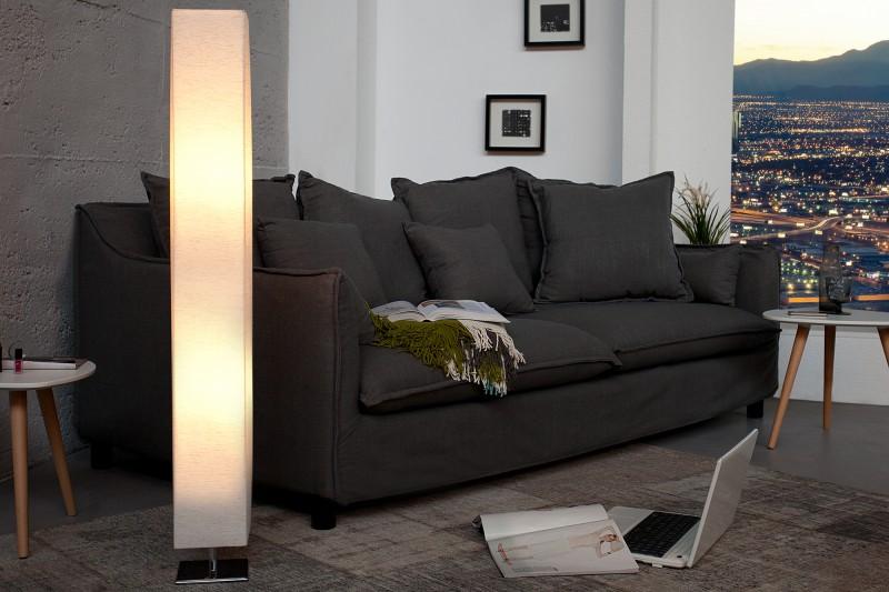 Stojanová lampa Paris créme 120cm plátno