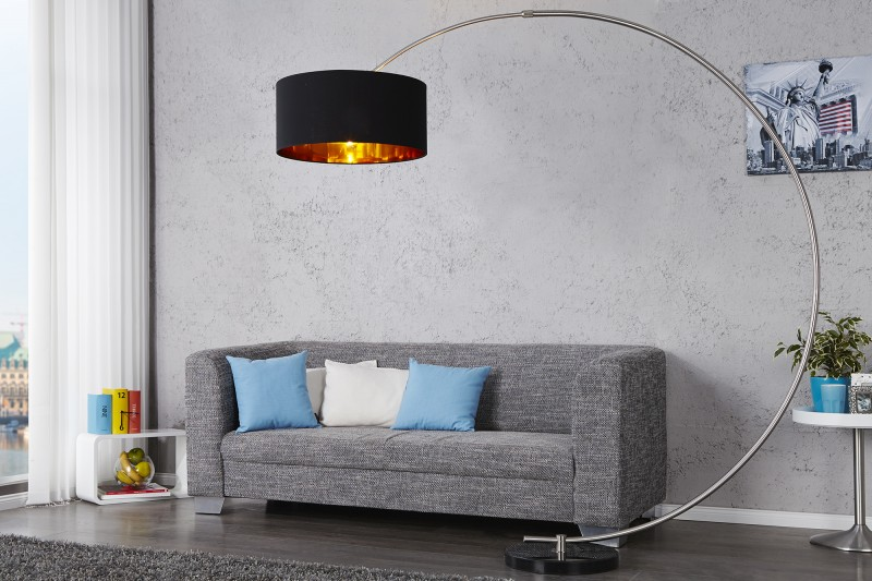 Stojanová lampa Python čiernozlatá m. Dimmer