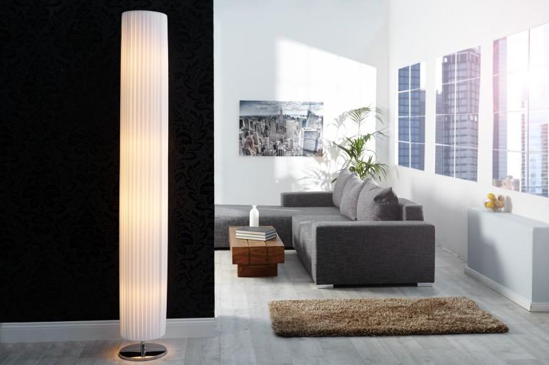 Stojanová lampa Salone 200cm biela