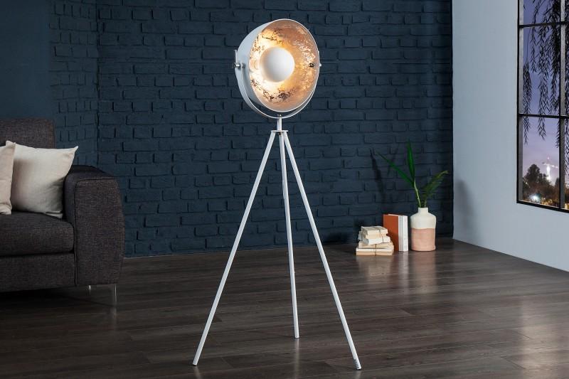 Stojanová lampa Studio 140cm biela strieborná