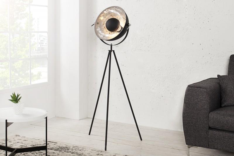 Stojanová lampa Studio 140cm čierna strieborná