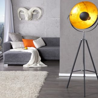 Stojanová lampa Studio 140cm čiernozlatá