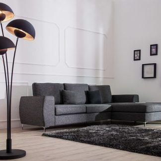 Stojanová lampa Studio III 170cm čierna strieborná