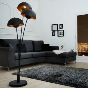 Stojanová lampa Studio III 170cm čiernozlatá