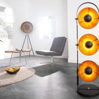 Stojanová lampa Studio čiernozlatá 3er