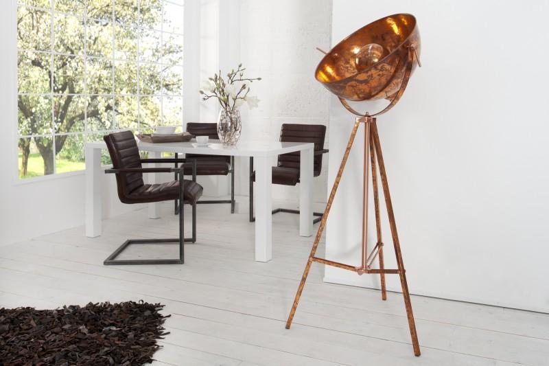 Stojanová lampa Studio meď Used Look