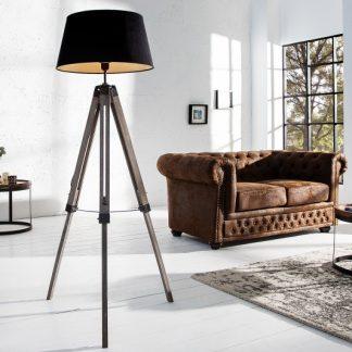 Stojanová lampa Sylt 100-145cm čierna