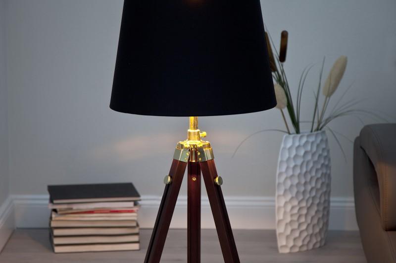 Stojanová lampa Sylt höhenverst. hnedá messing