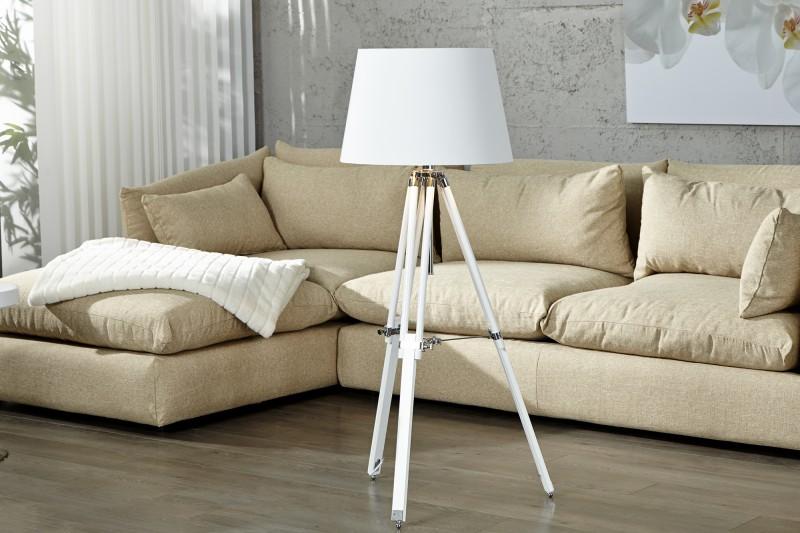 Stojanová lampa Sylt höhenverstellbar biela