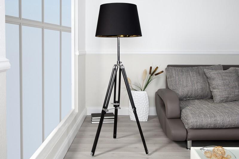Stojanová lampa Sylt höhenverstellbar čierna