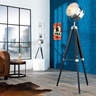 Stojanová lampa Tripod 110-150cm čierna chróm