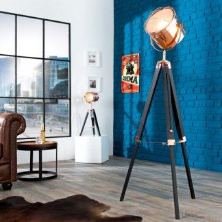 Stojanová lampa Tripod 110-150cm čierna meď